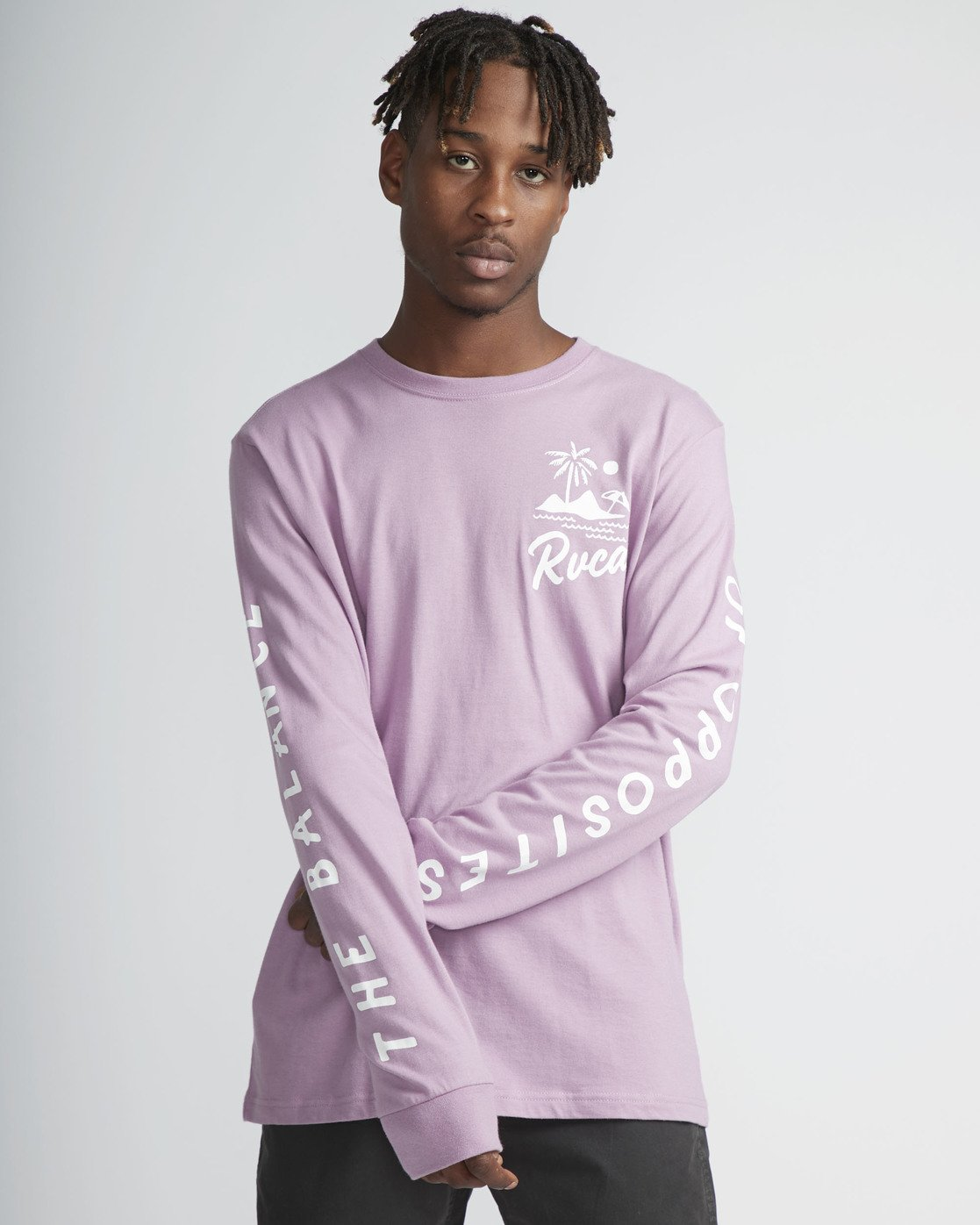 2 Mai Thai - Long Sleeves T-Shirt for Men Purple N1LSRBRVP9 RVCA