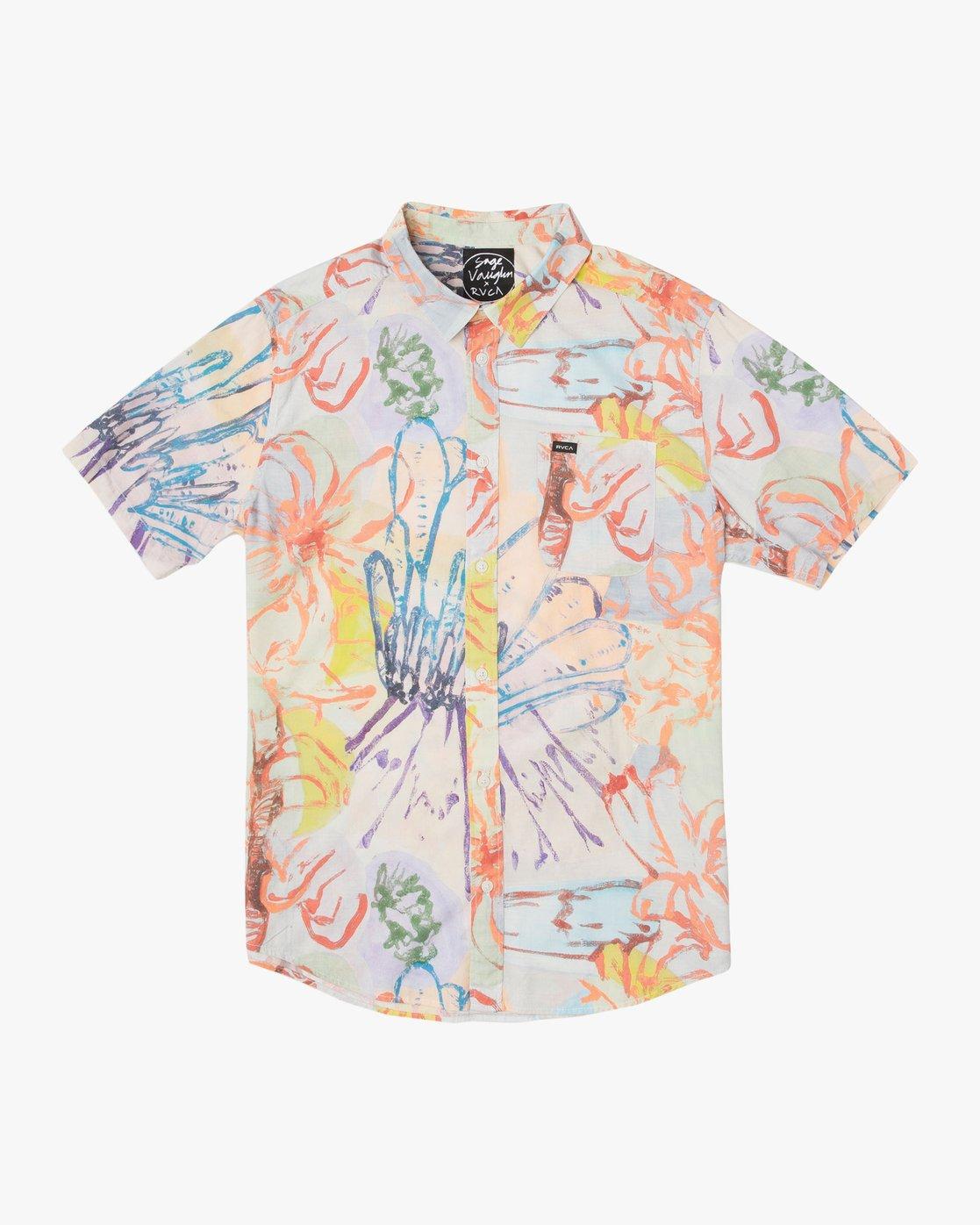 0 Vaughn Floral SS Shirt  N1SHRHRVP9 RVCA