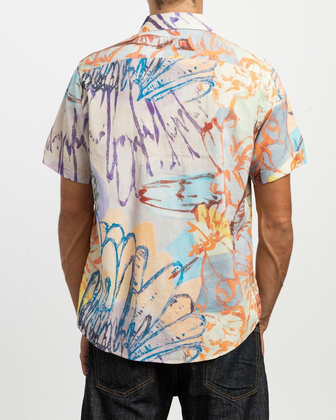 3 Vaughn Floral SS Shirt  N1SHRHRVP9 RVCA