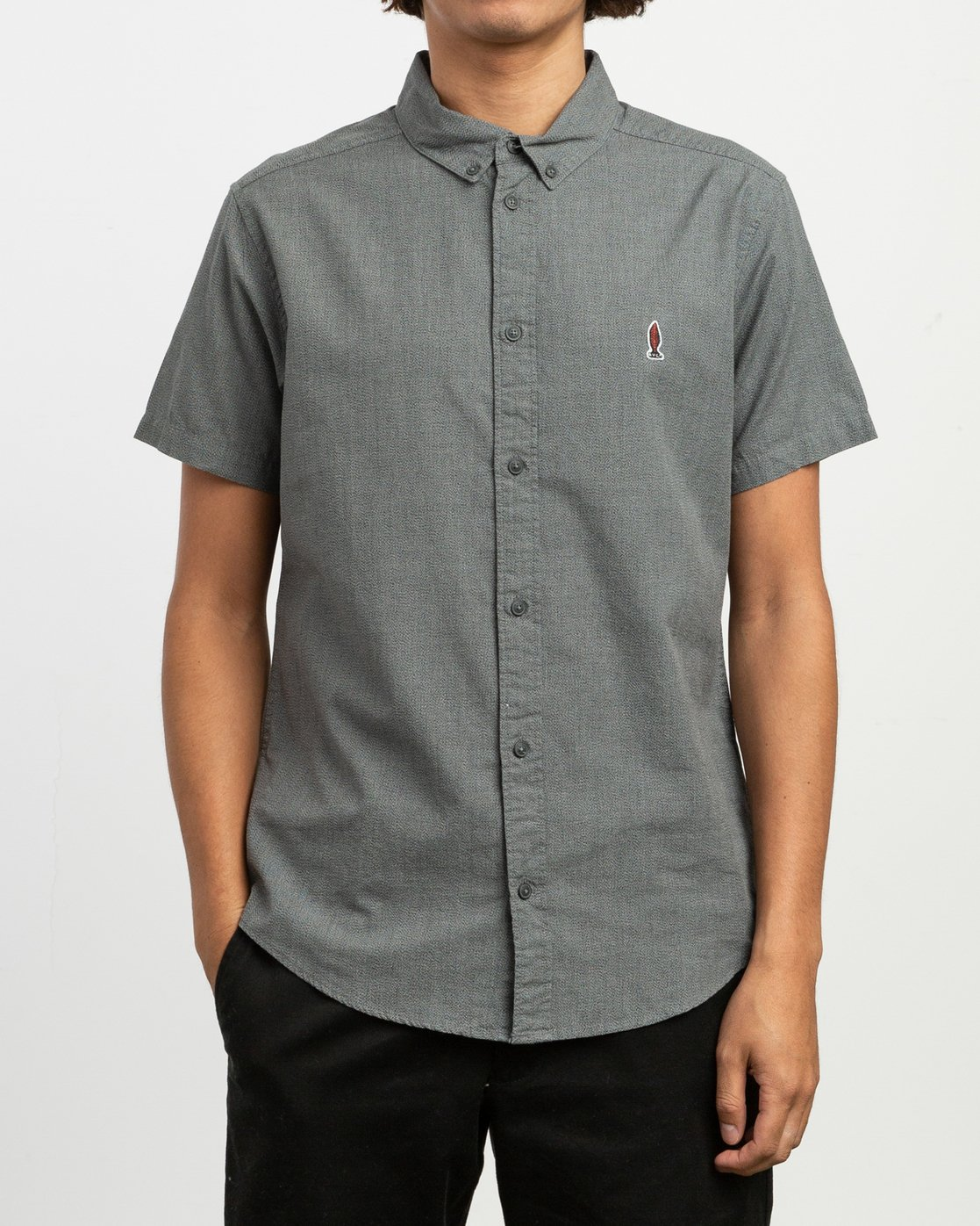 1 Dmote ANP Twist - Short Sleeves Shirt for Men Black N1SHRKRVP9 RVCA