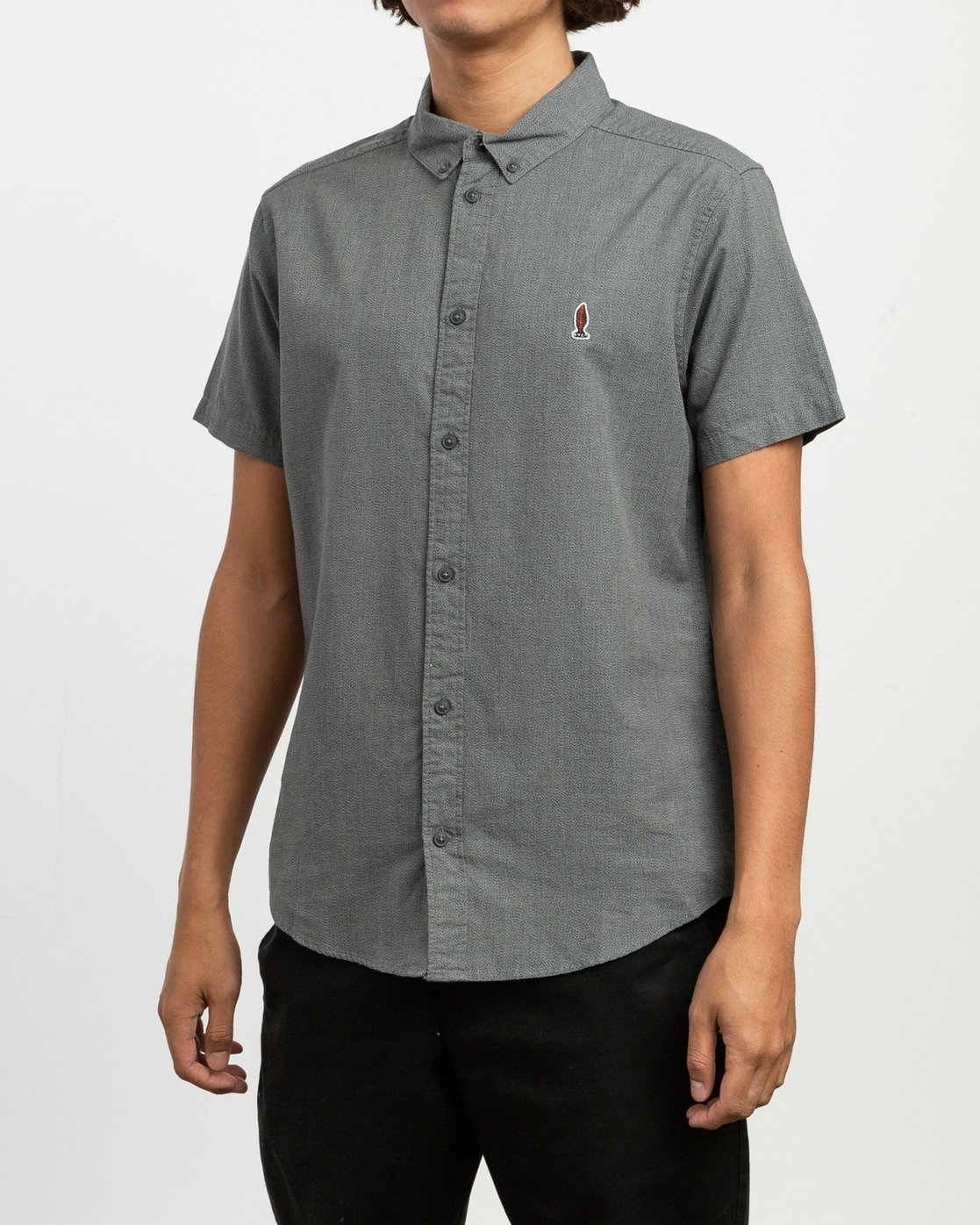 2 Dmote ANP Twist - Short Sleeves Shirt for Men Black N1SHRKRVP9 RVCA