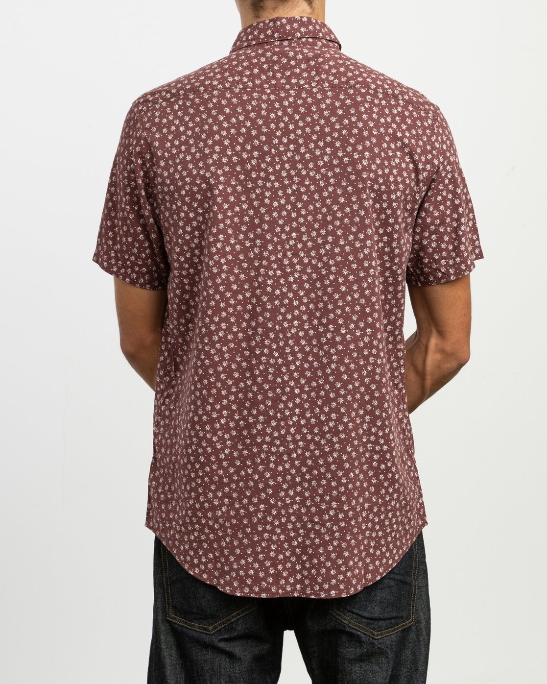 3 Ficus Floral - Short Sleeves Shirt for Men Rot N1SHRWRVP9 RVCA
