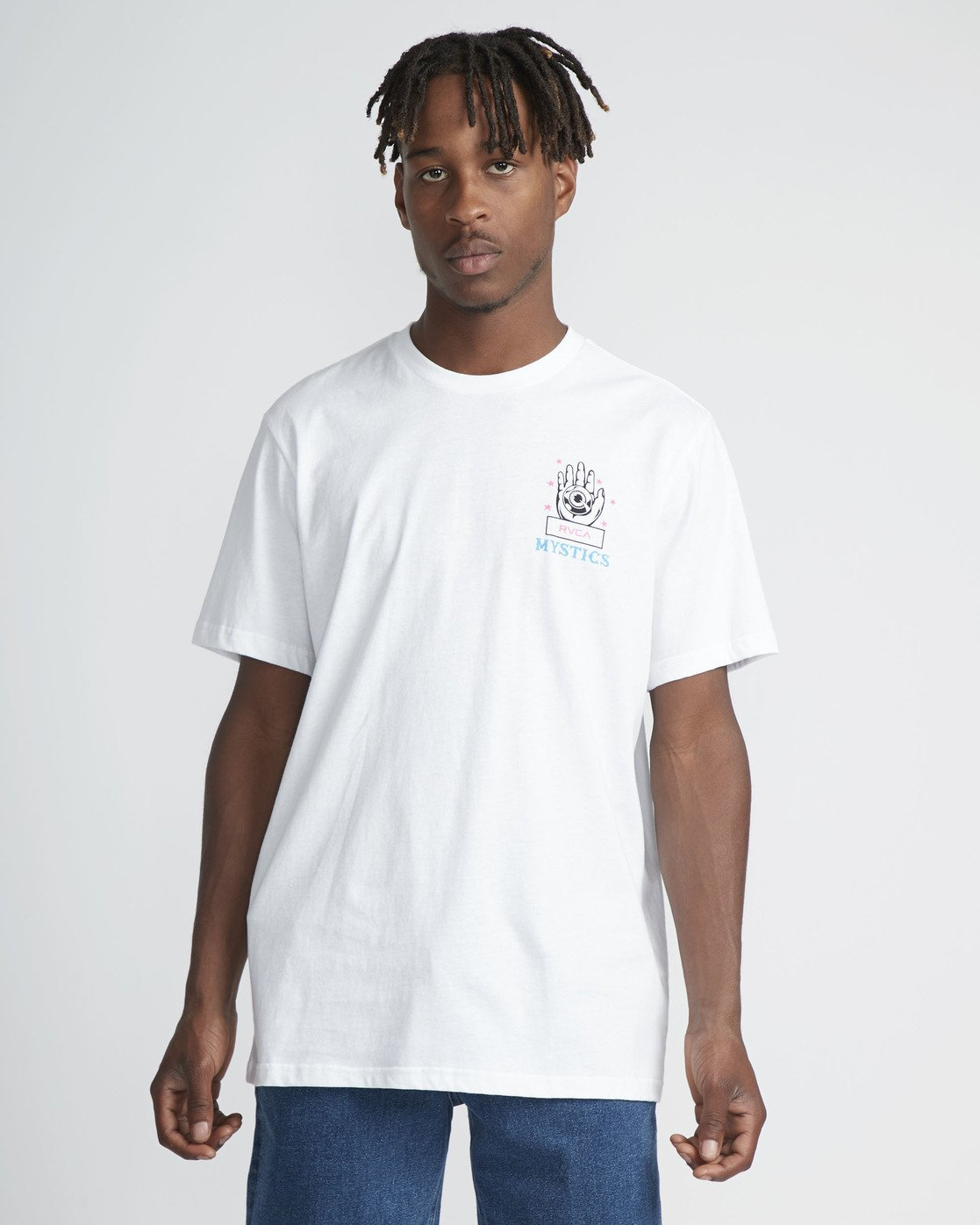 2 Psychic SS T-Shirt White N1SSRERVP9 RVCA