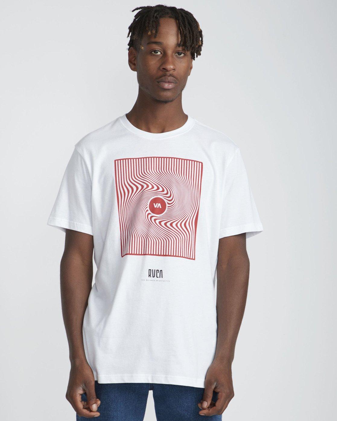 2 Mind Warp SS T-Shirt White N1SSRFRVP9 RVCA