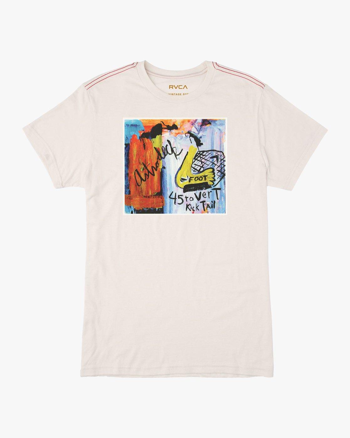 0 Kick Tail- T-Shirt à manches courtes pour Homme Blanc N1SSRHRVP9 RVCA