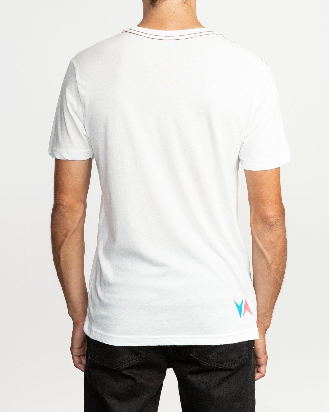 4 Kick Tail- T-Shirt à manches courtes pour Homme Blanc N1SSRHRVP9 RVCA