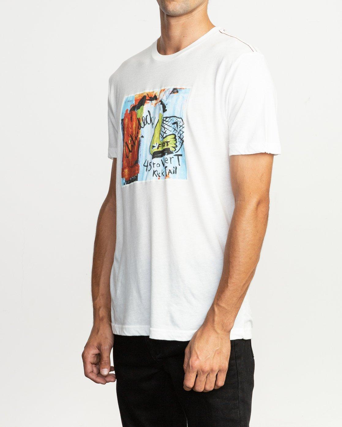 3 Kick Tail- T-Shirt à manches courtes pour Homme Blanc N1SSRHRVP9 RVCA