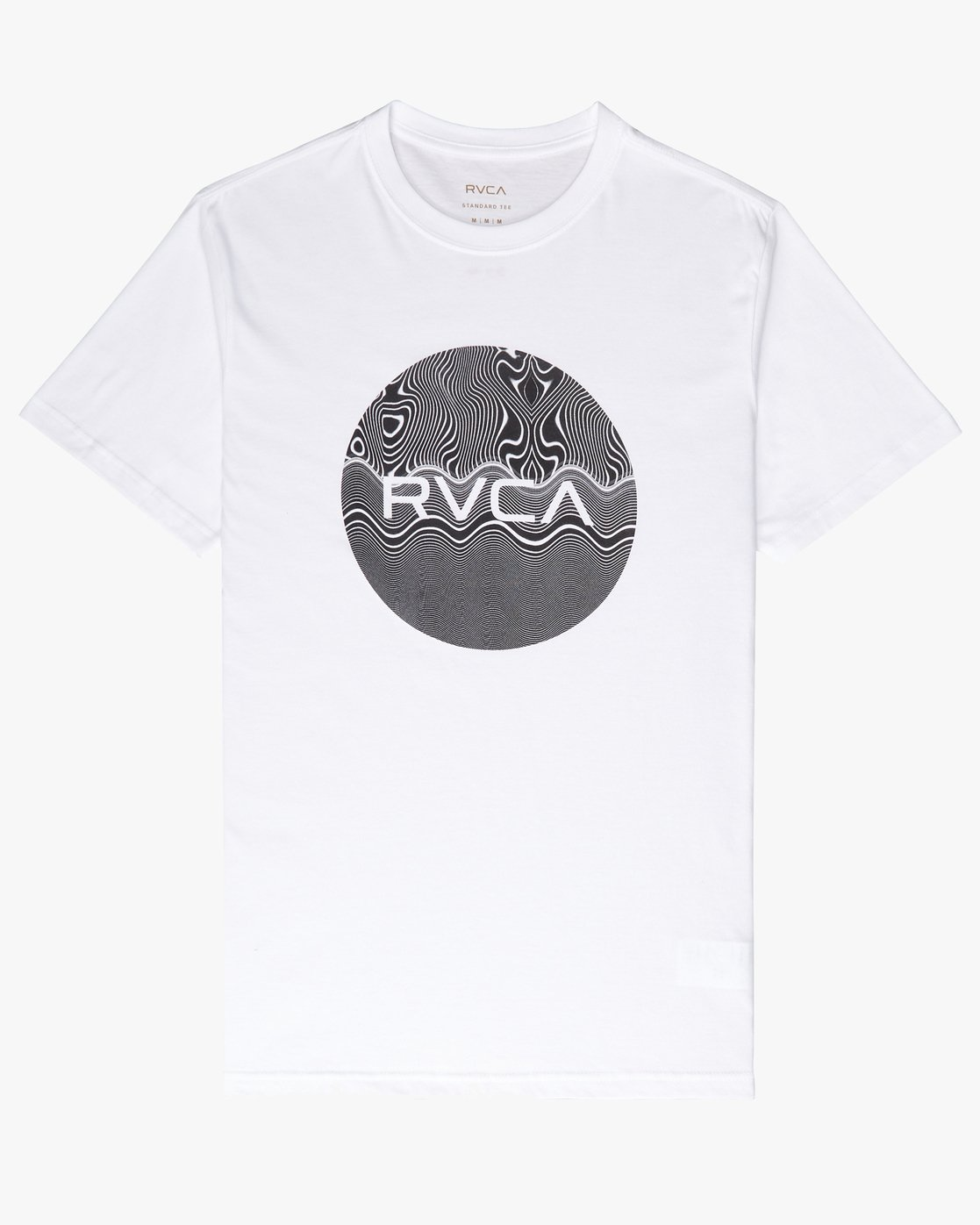 0 Motors Fill SS T-Shirt White N1SSRMRVP9 RVCA