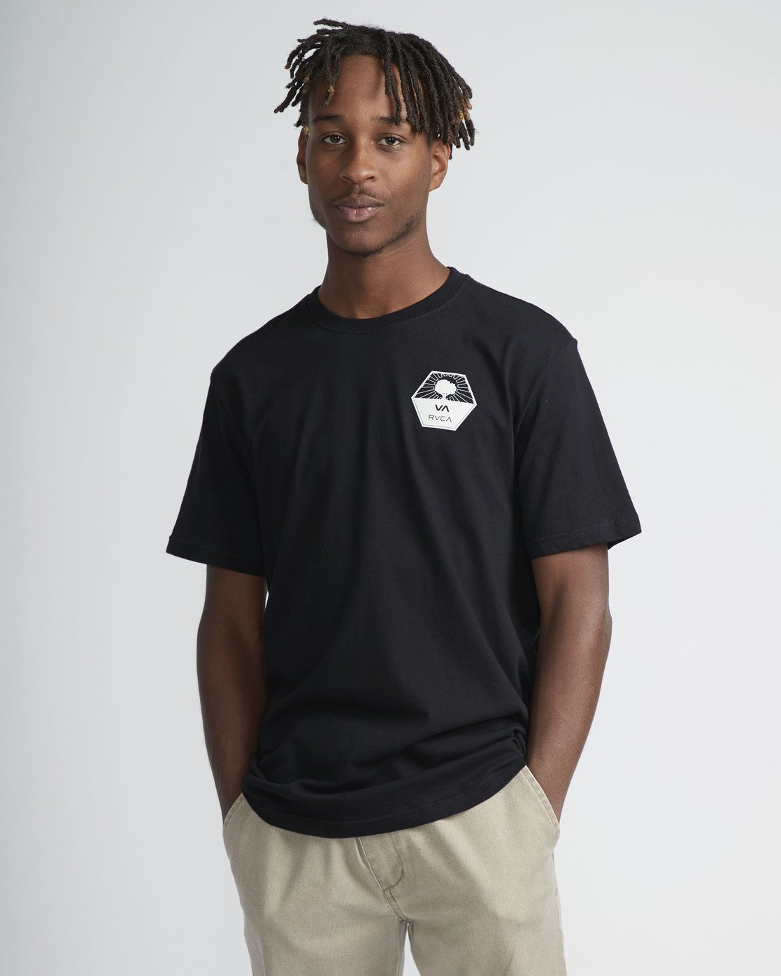 2 Stealth Irons SS T-Shirt Black N1SSSARVP9 RVCA