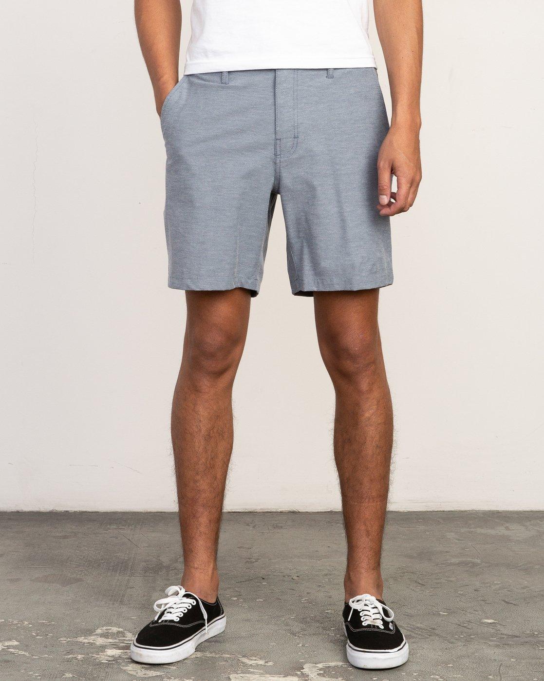 1 Balance Nailhead Hybrid Short for Men Blue N1WKRIRVP9 RVCA