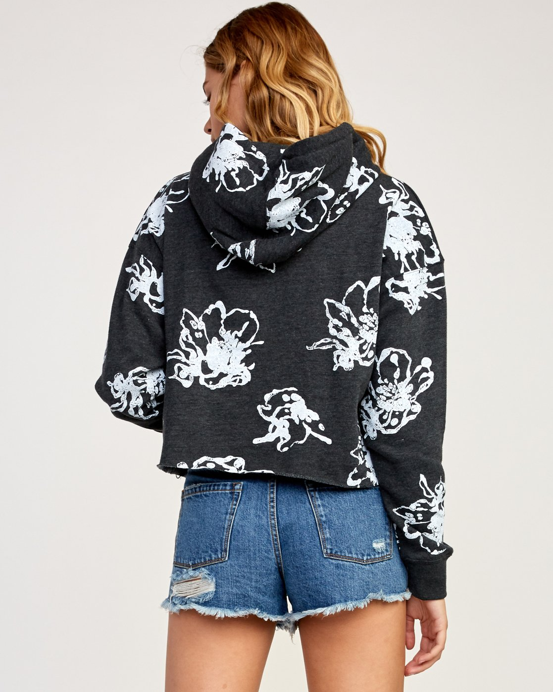 2 Sage Vaughn Floral - Hoodie for Women Grey N3HORARVP9 RVCA