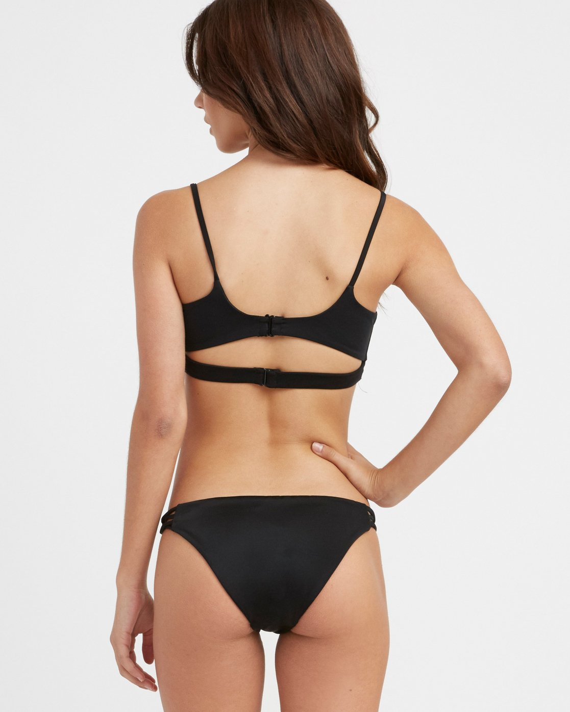 0 Solid Medium Loop Side Bikini Bottoms Black N3SBRDRVP9 RVCA