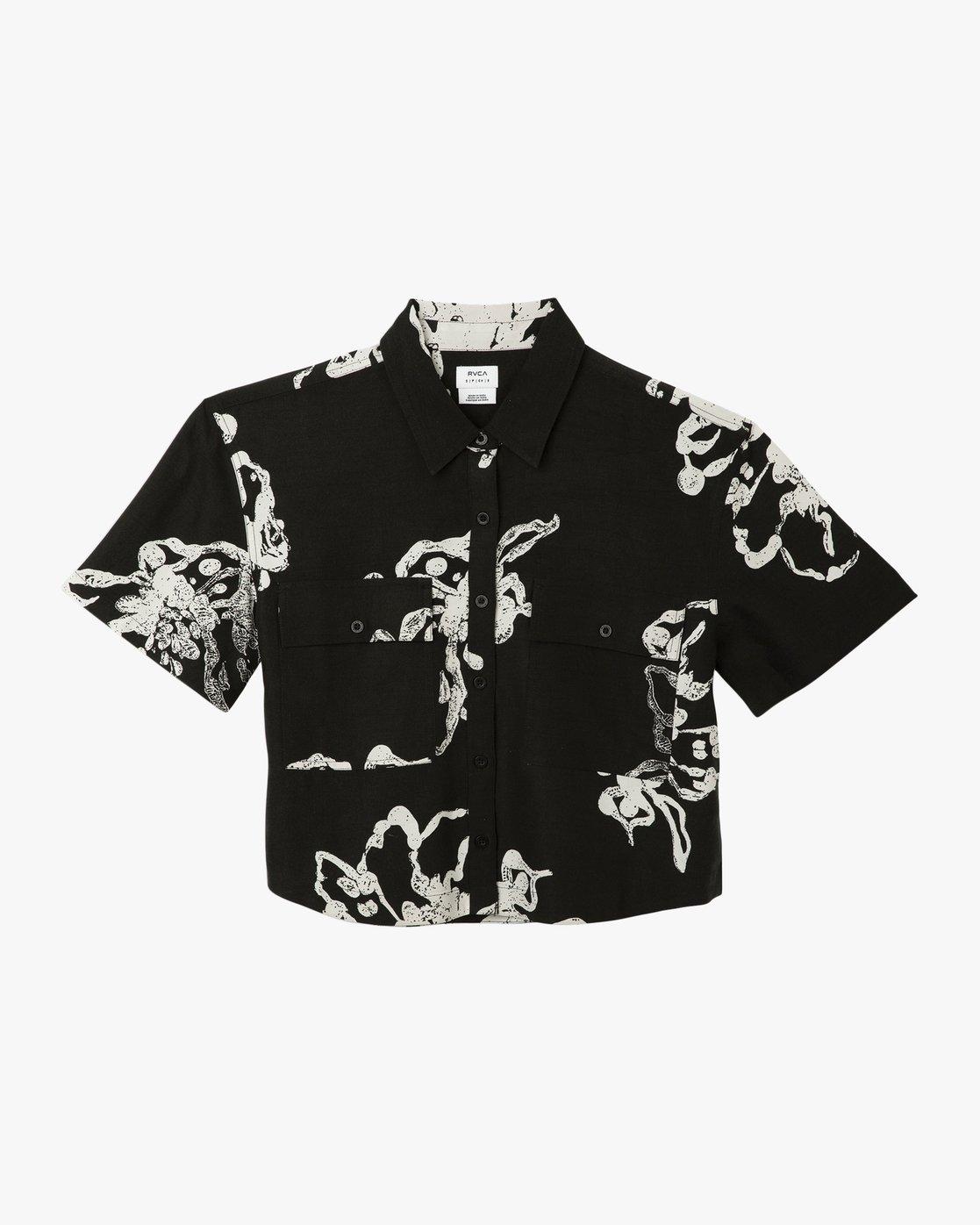 6 Sage Vaughn Voila - Short Sleeves Shirt for Women Schwarz N3SHRCRVP9 RVCA
