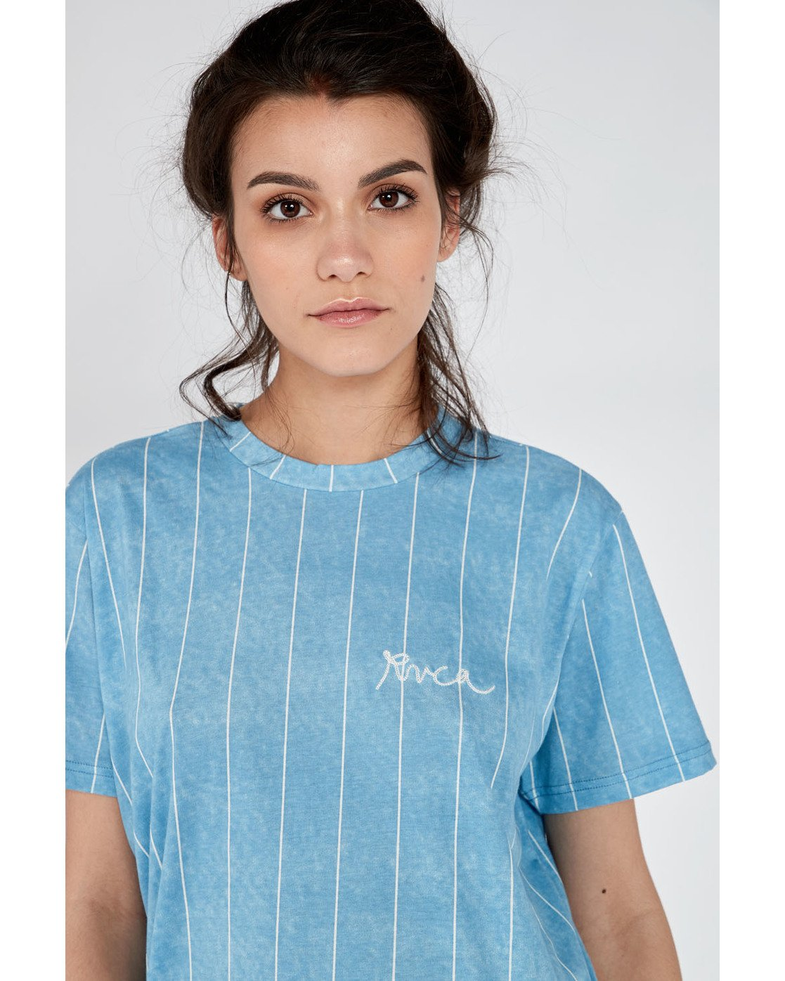 0 Rvca Chained T-Shirt Blue N3SSRPRVP9 RVCA