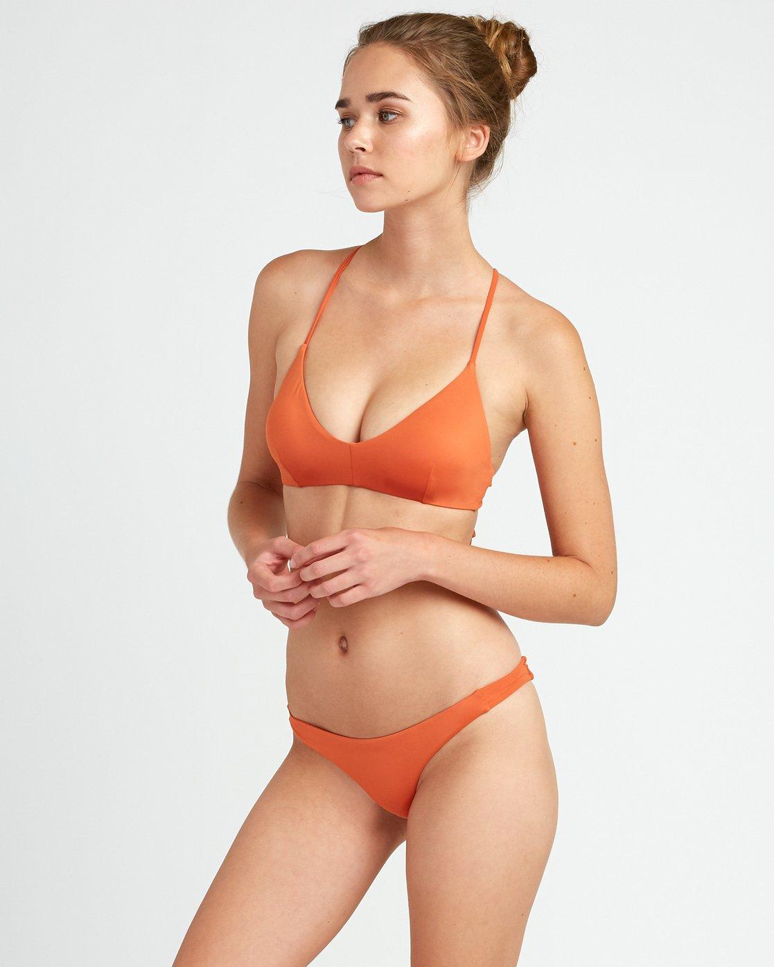 2 Solid - Reggiseno Bikini con Schiena Incrociata da Donna Yellow N3STRBRVP9 RVCA