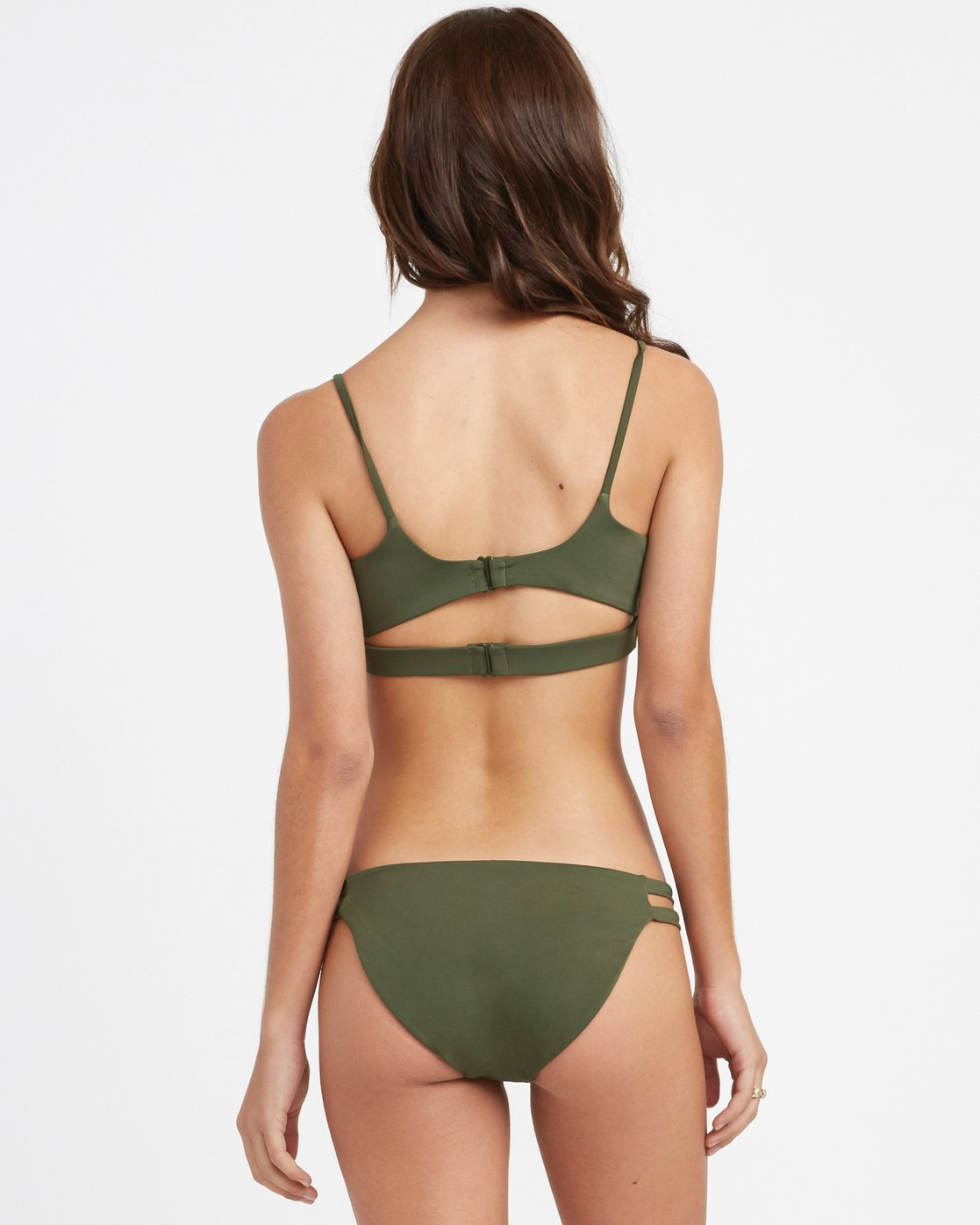 2 Solid - Laced Bikini Top for Women Green N3STRCRVP9 RVCA