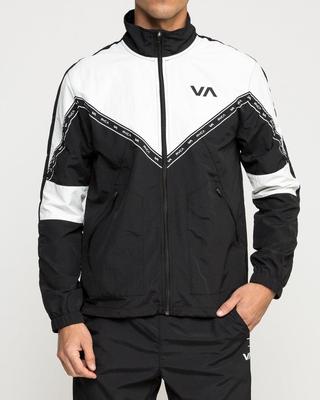 1 Control Track - Sports Jacket for Men Black N4JKMCRVP9 RVCA