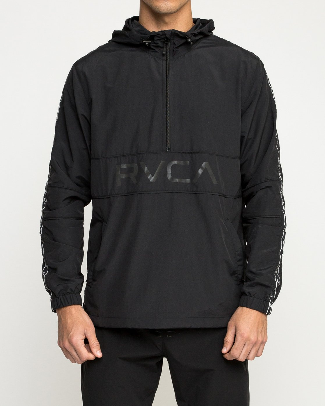 2 Adapter Anorak - Sports Jacket for Men Black N4JKMDRVP9 RVCA