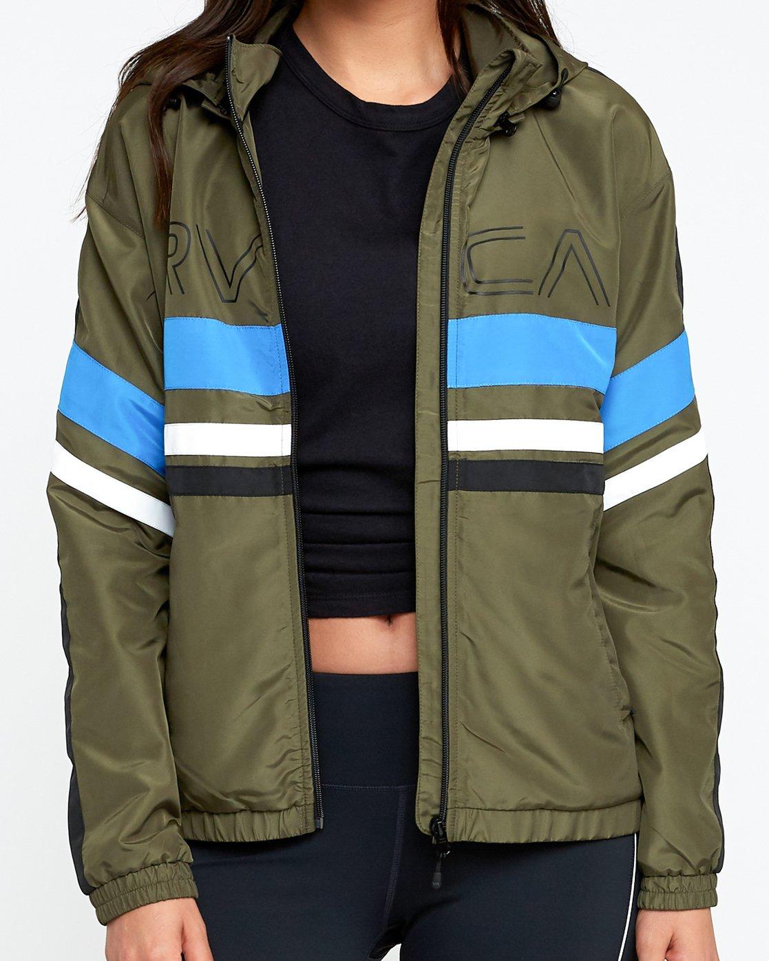 4 VA Team - Sports Jacket for Women Green N4JKWCRVP9 RVCA