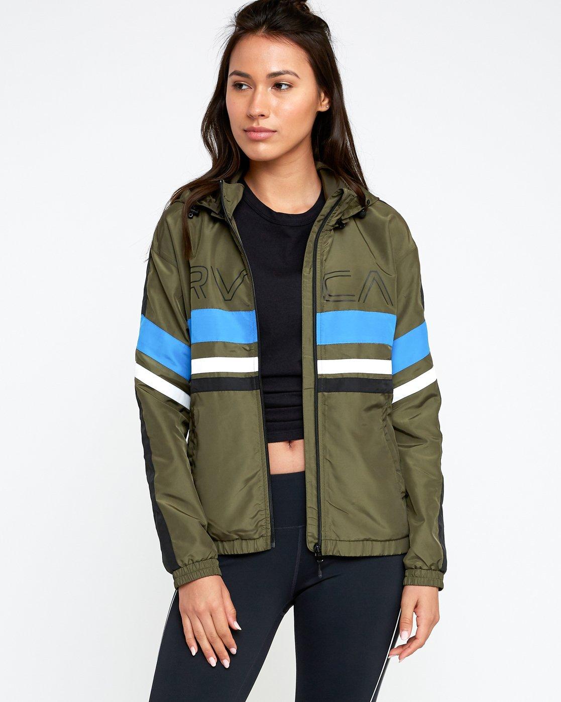 0 VA Team - Sports Jacket for Women Green N4JKWCRVP9 RVCA
