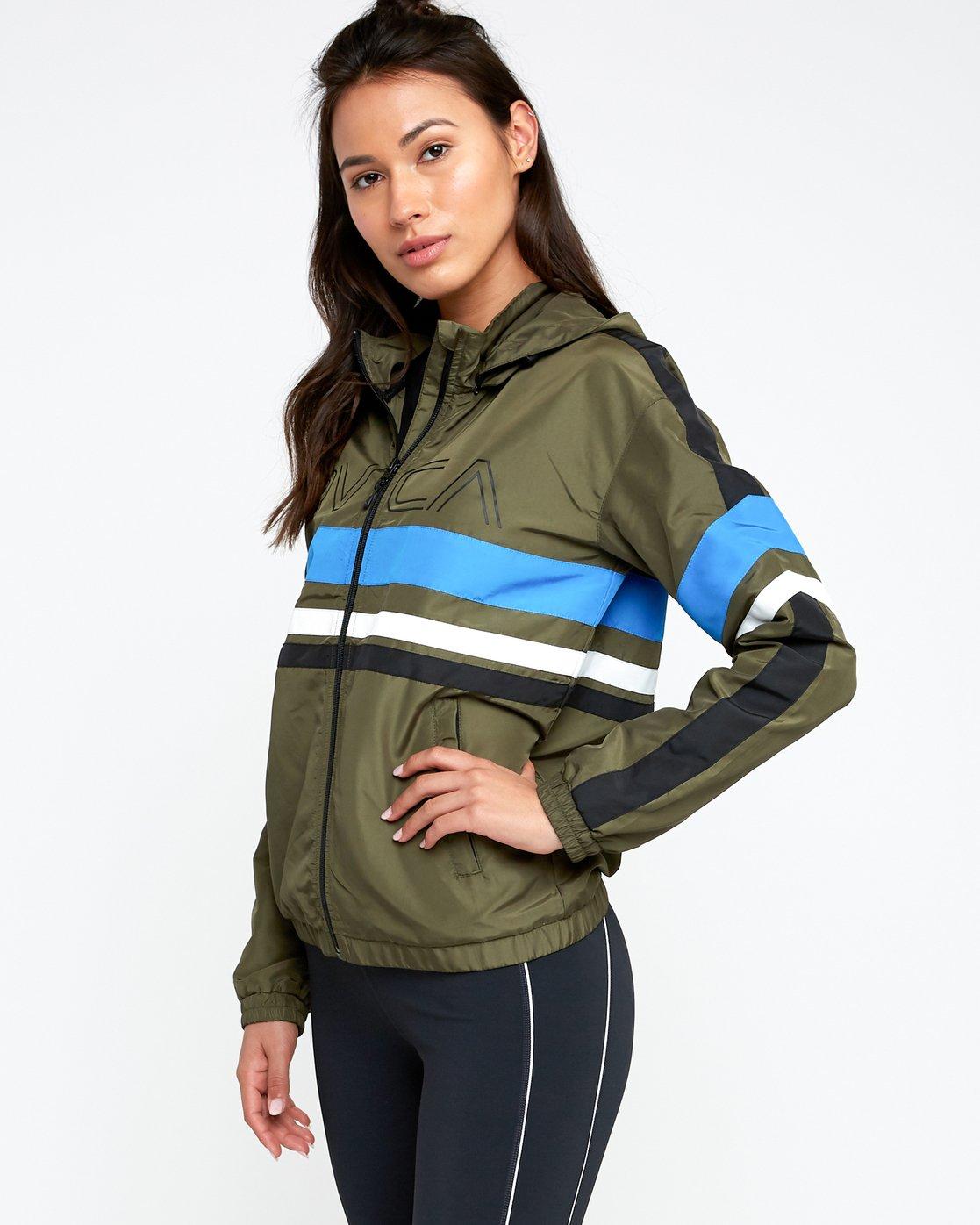1 VA Team - Sports Jacket for Women Green N4JKWCRVP9 RVCA