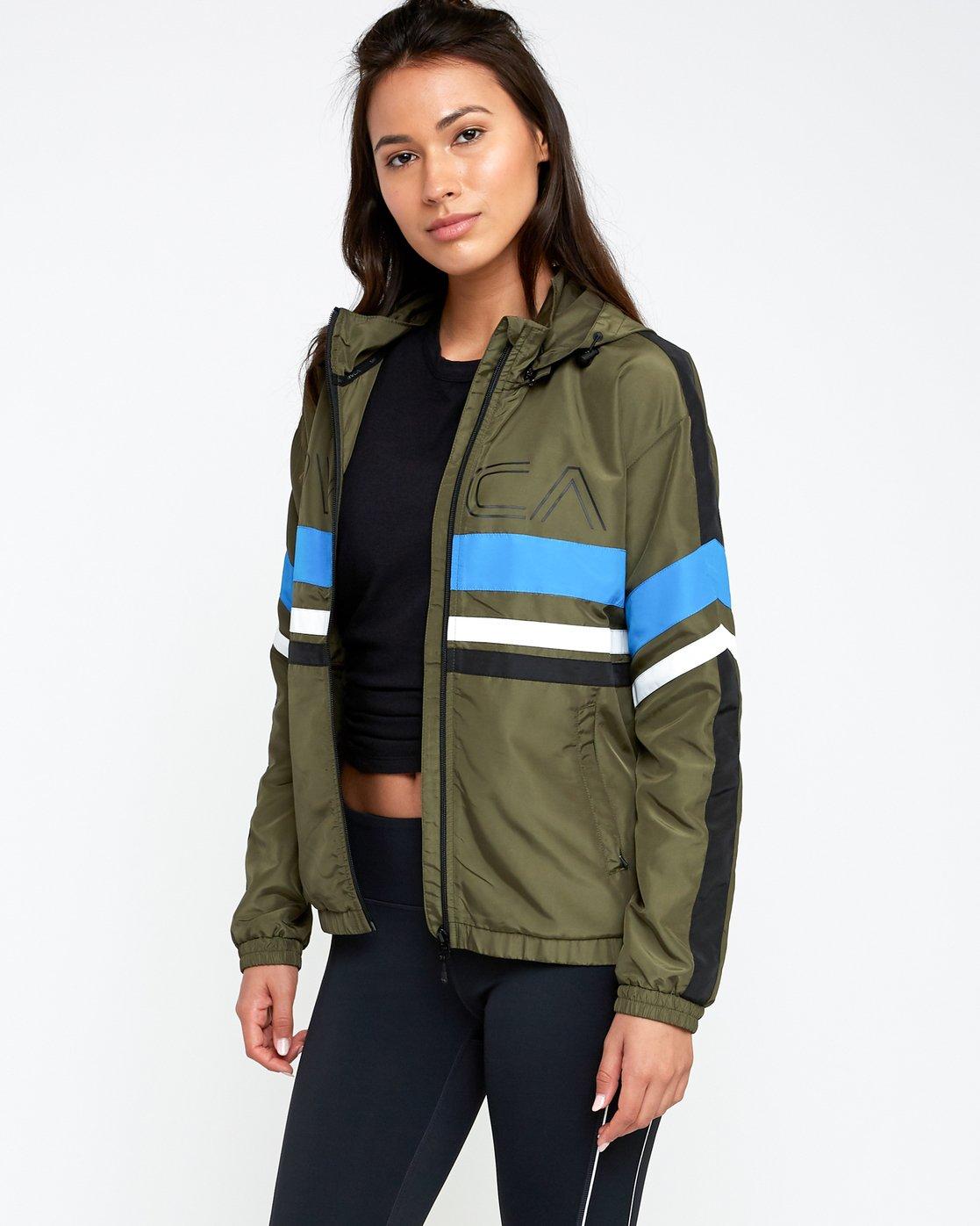 2 VA Team - Sports Jacket for Women Green N4JKWCRVP9 RVCA