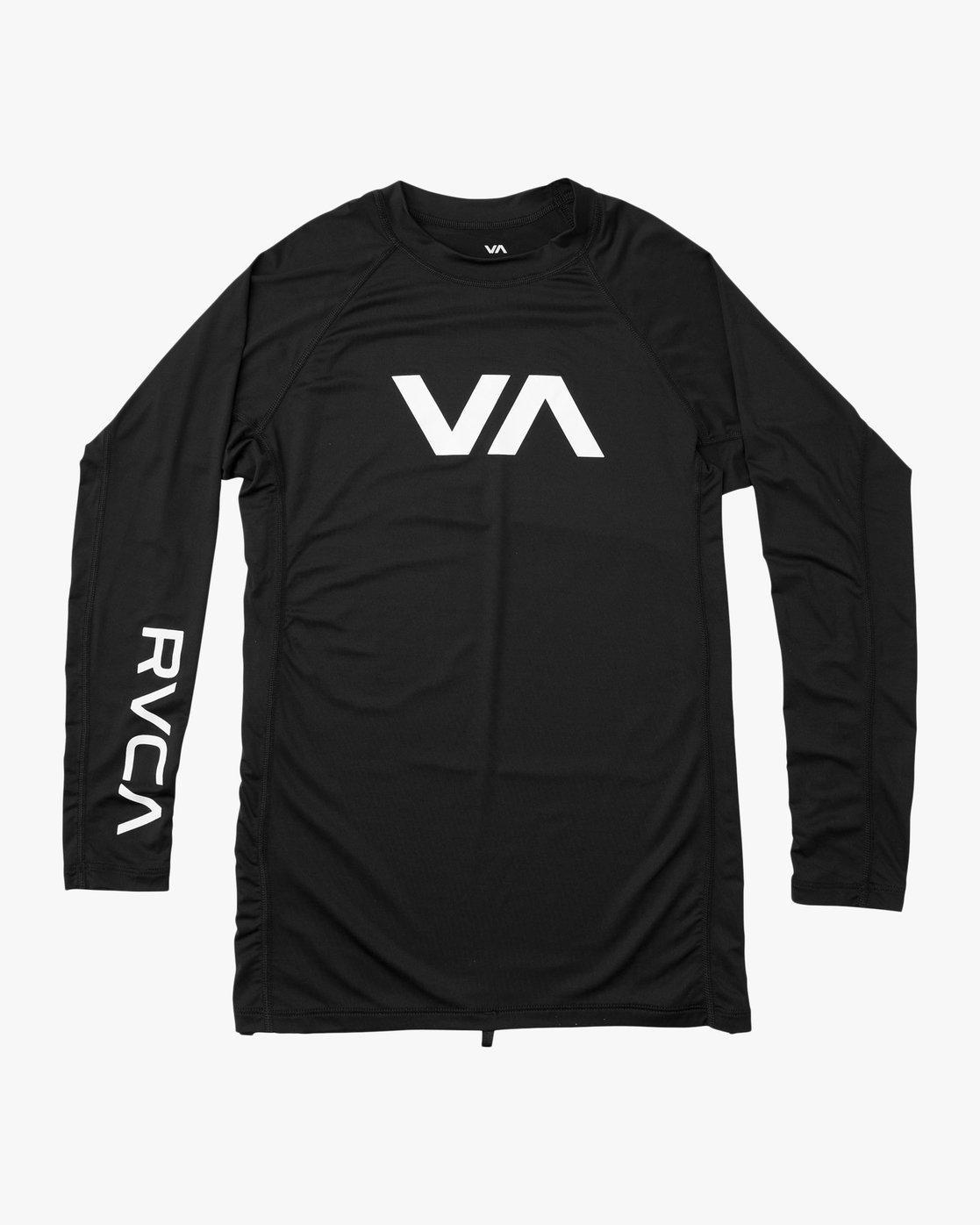0 Sport Rashguard - Long Sleeve Rash Vest for Men Black N4MYRARVP9 RVCA