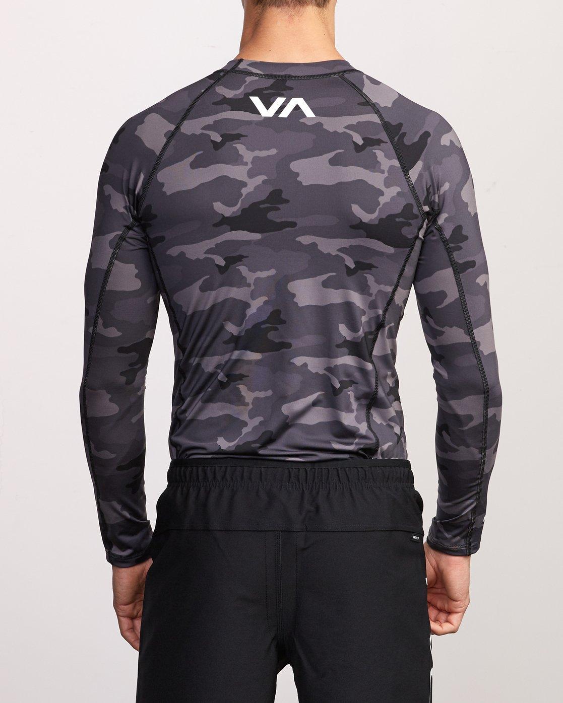 5 Sport Rashguard - Long Sleeve Rash Vest for Men Camo N4MYRARVP9 RVCA