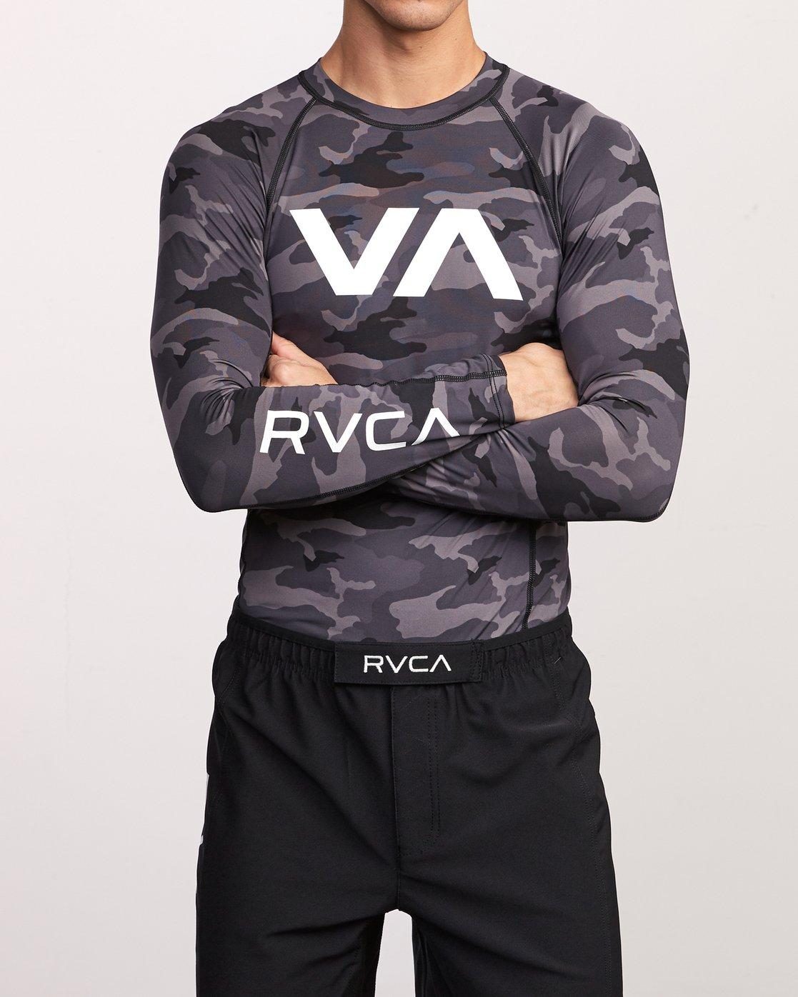 2 Sport Rashguard - Surf Tee manches longues pour Homme Camo N4MYRARVP9 RVCA