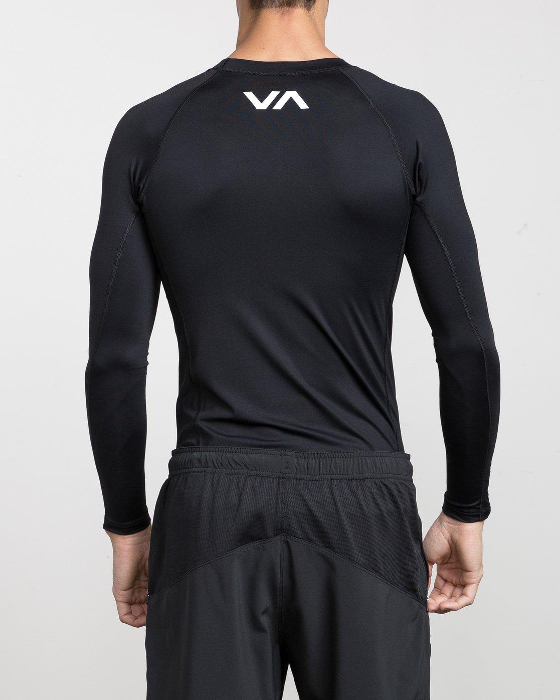 3 Sport Rashguard - Long Sleeve Rash Vest for Men Black N4MYRARVP9 RVCA