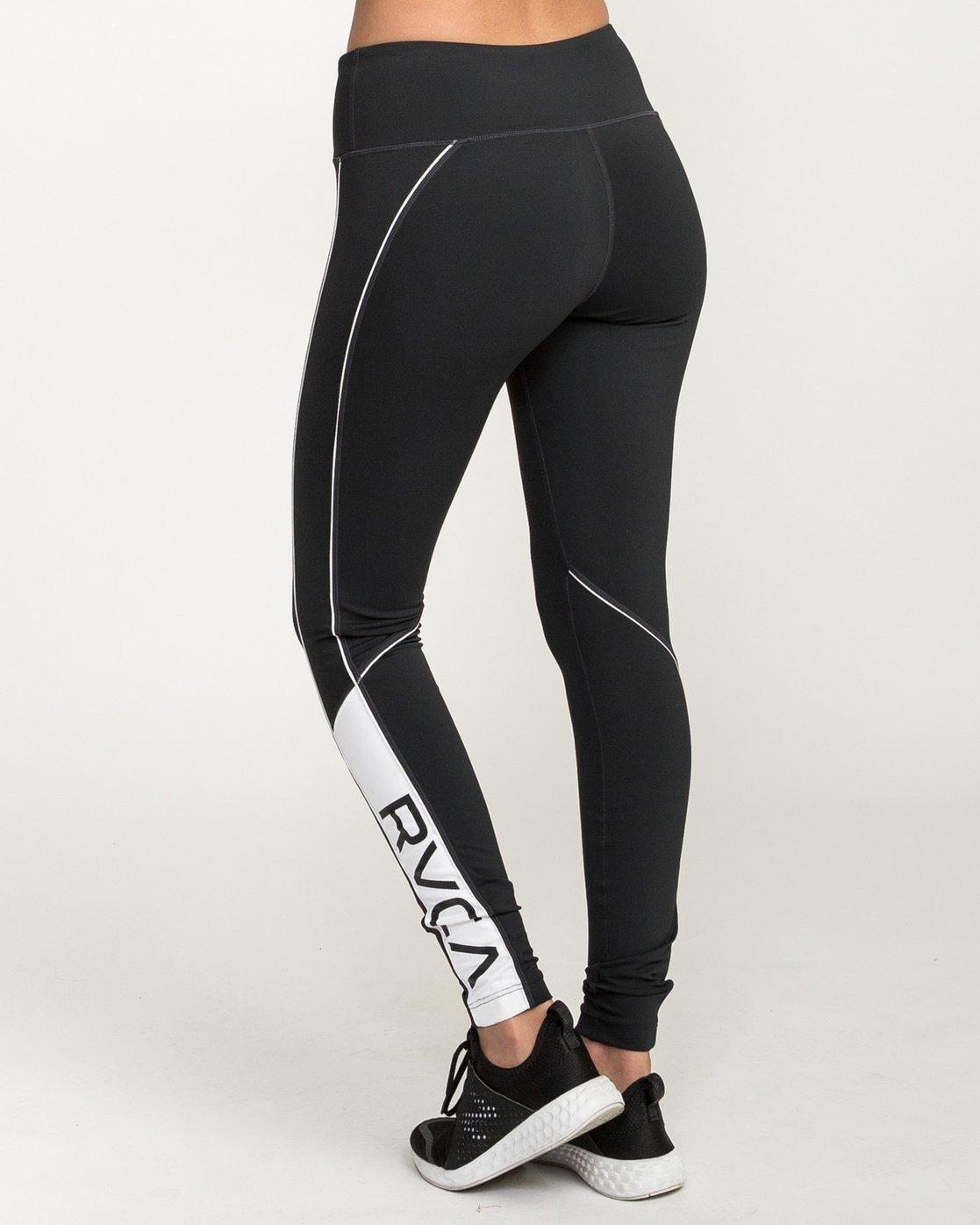 3 VA - Sports Legging for Women Schwarz N4PTWARVP9 RVCA
