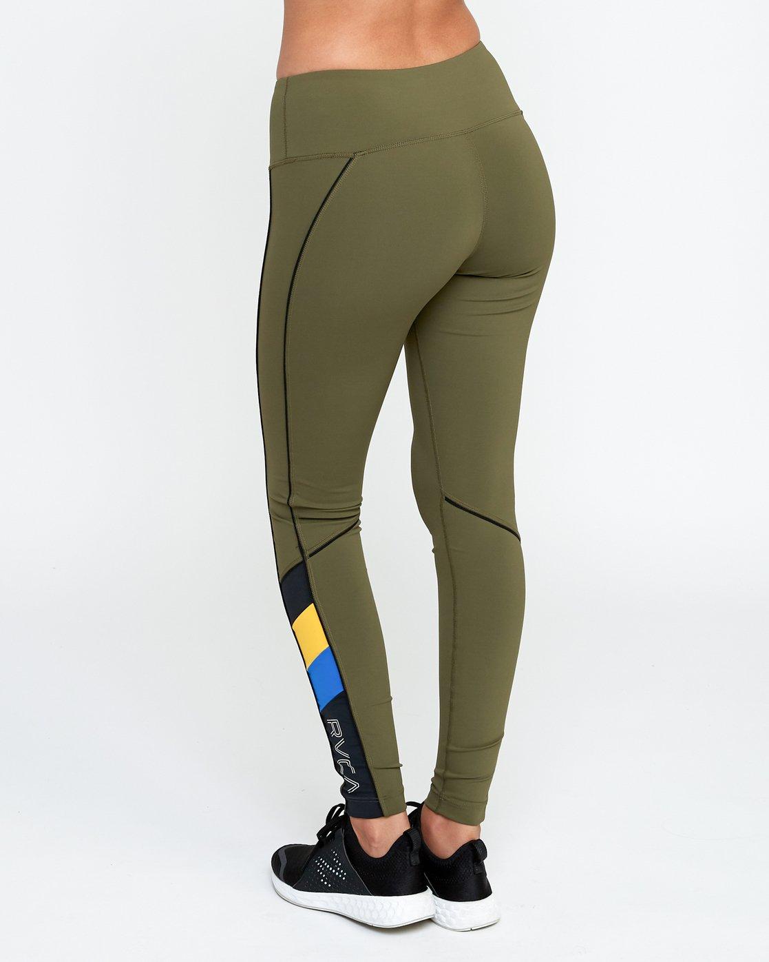 2 VA - Sports Legging for Women Green N4PTWARVP9 RVCA