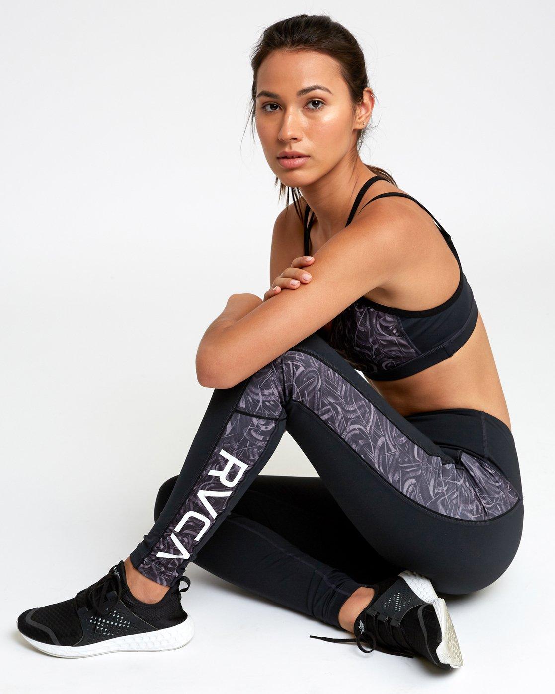 0 VA - Sports Legging for Women Grau N4PTWARVP9 RVCA