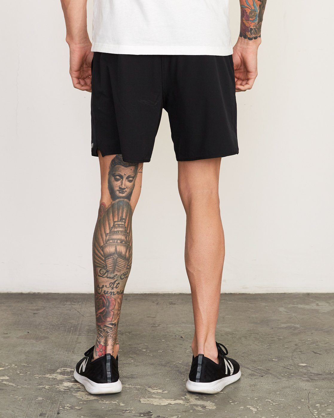 "4 Yogger Stretch 17"" Short Black N4WKMFRVP9 RVCA"