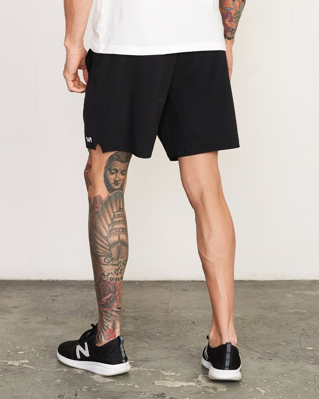 "3 Yogger Stretch 17"" Short Black N4WKMFRVP9 RVCA"