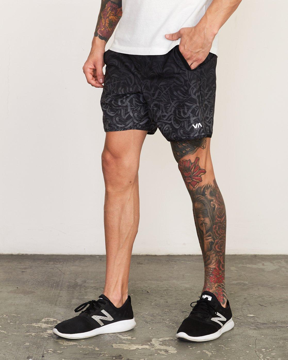 2 Yogger Stretch - Short de sport 17'' pour Homme Gris N4WKMFRVP9 RVCA
