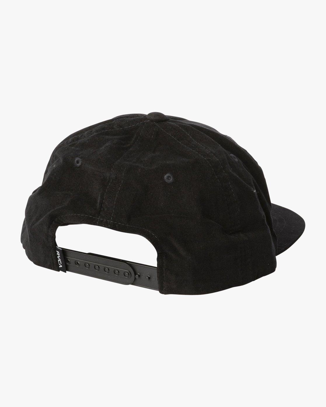 1 Everett Snapback Cap Black N5CPRHRVP9 RVCA
