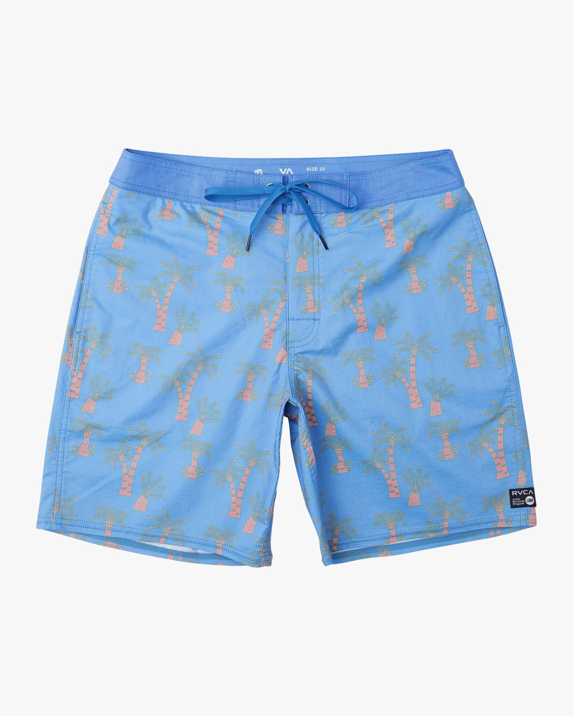 0 Kristen Liu Wong Palms Trunk - Boardshorts for Men Blue P1BSRDRVS9 RVCA