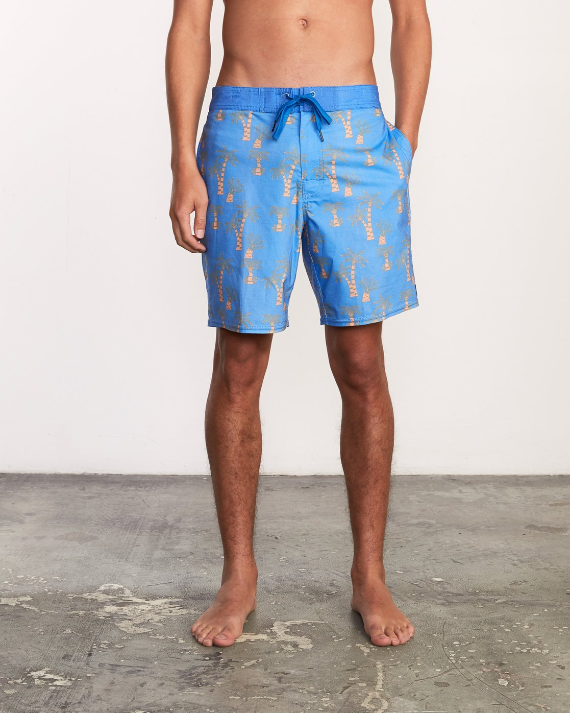 1 Kristen Liu Wong Palms Trunk - Boardshorts for Men Blue P1BSRDRVS9 RVCA