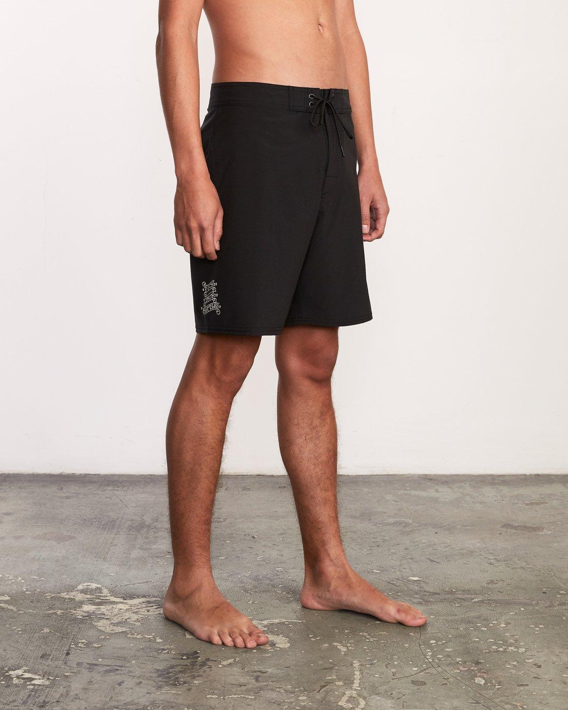 6 Bert Krak Colin And Bert Trunk - Boardshorts for Men Black P1BSRVRVS9 RVCA