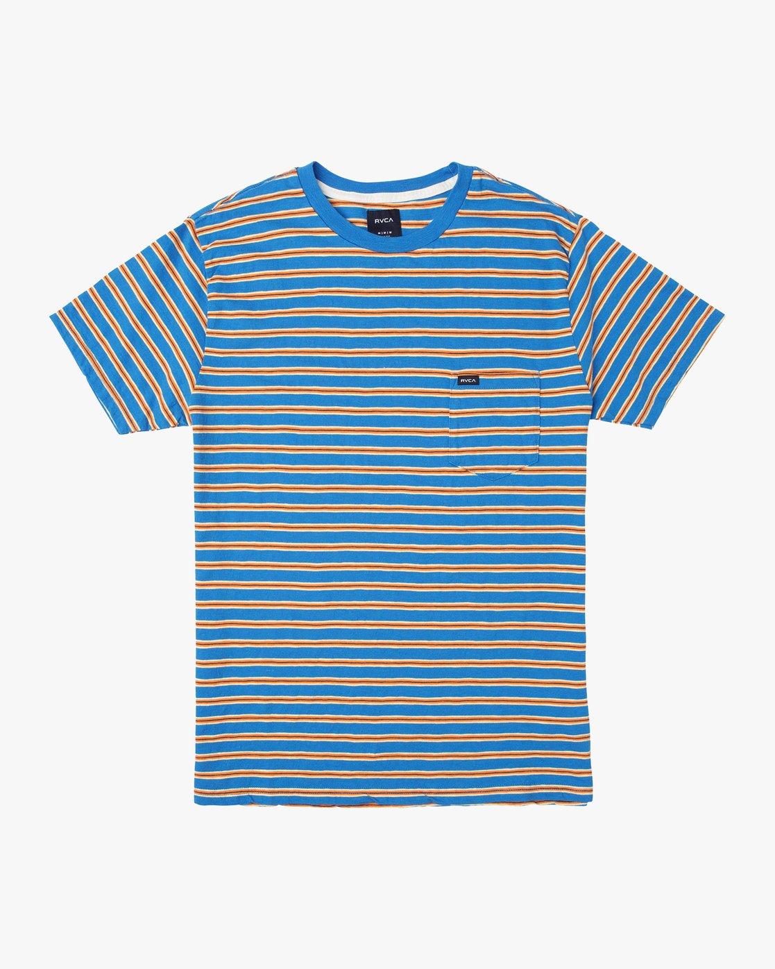 0 Vincent Stripe Crew - T-Shirt for Men Blau P1KTRBRVS9 RVCA