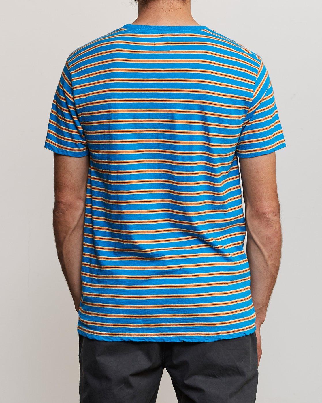 3 Vincent Stripe Crew - T-Shirt for Men Blau P1KTRBRVS9 RVCA