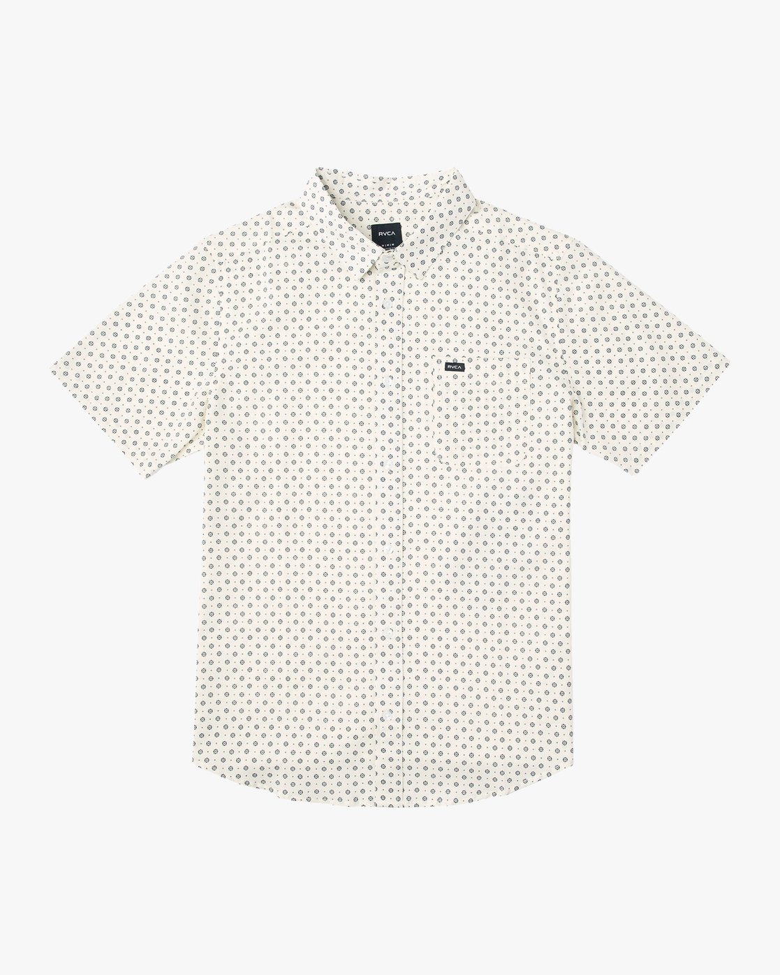 0 Gauze Dot Shirt Beige P1SHRBRVS9 RVCA
