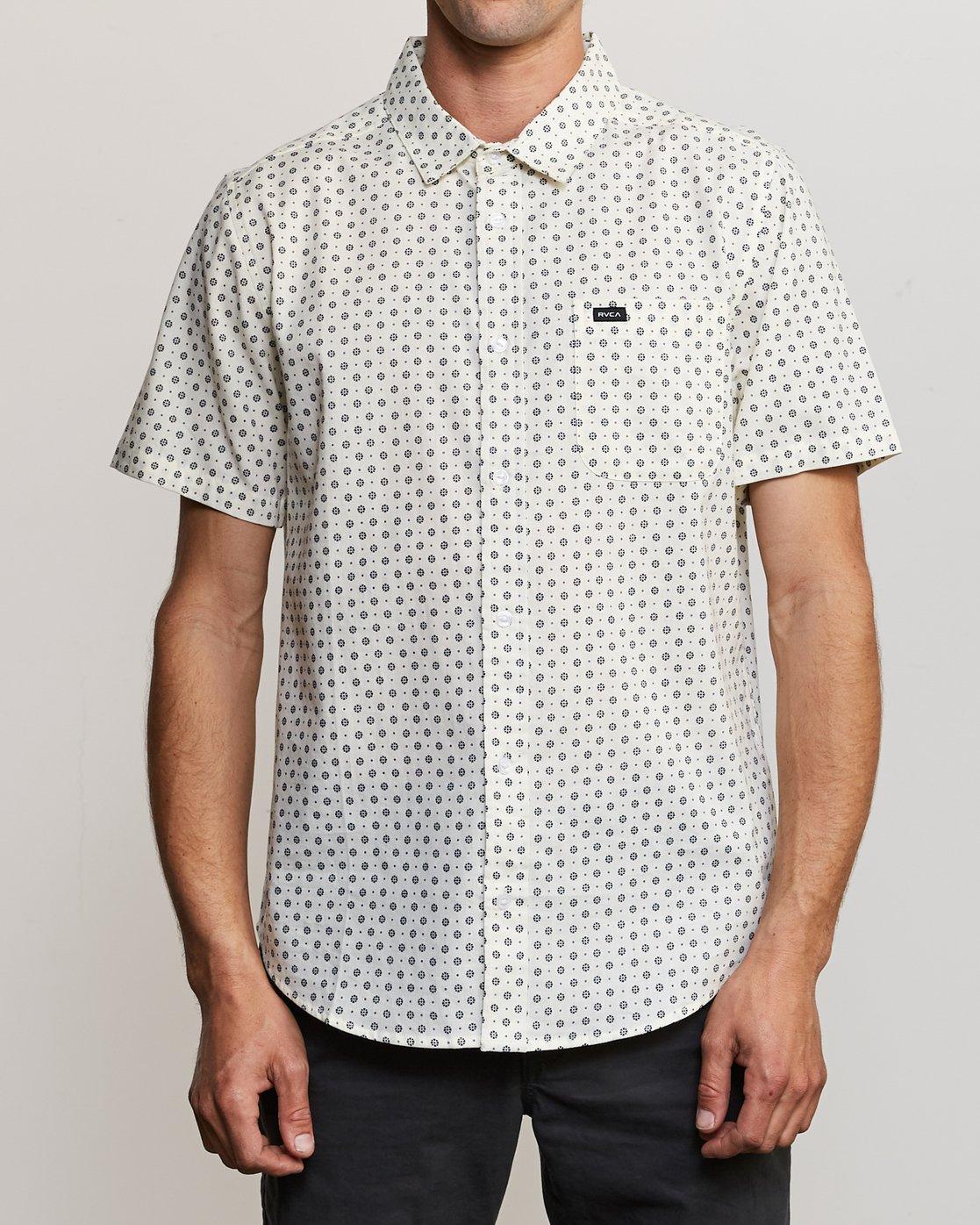 1 Gauze Dot Shirt Beige P1SHRBRVS9 RVCA