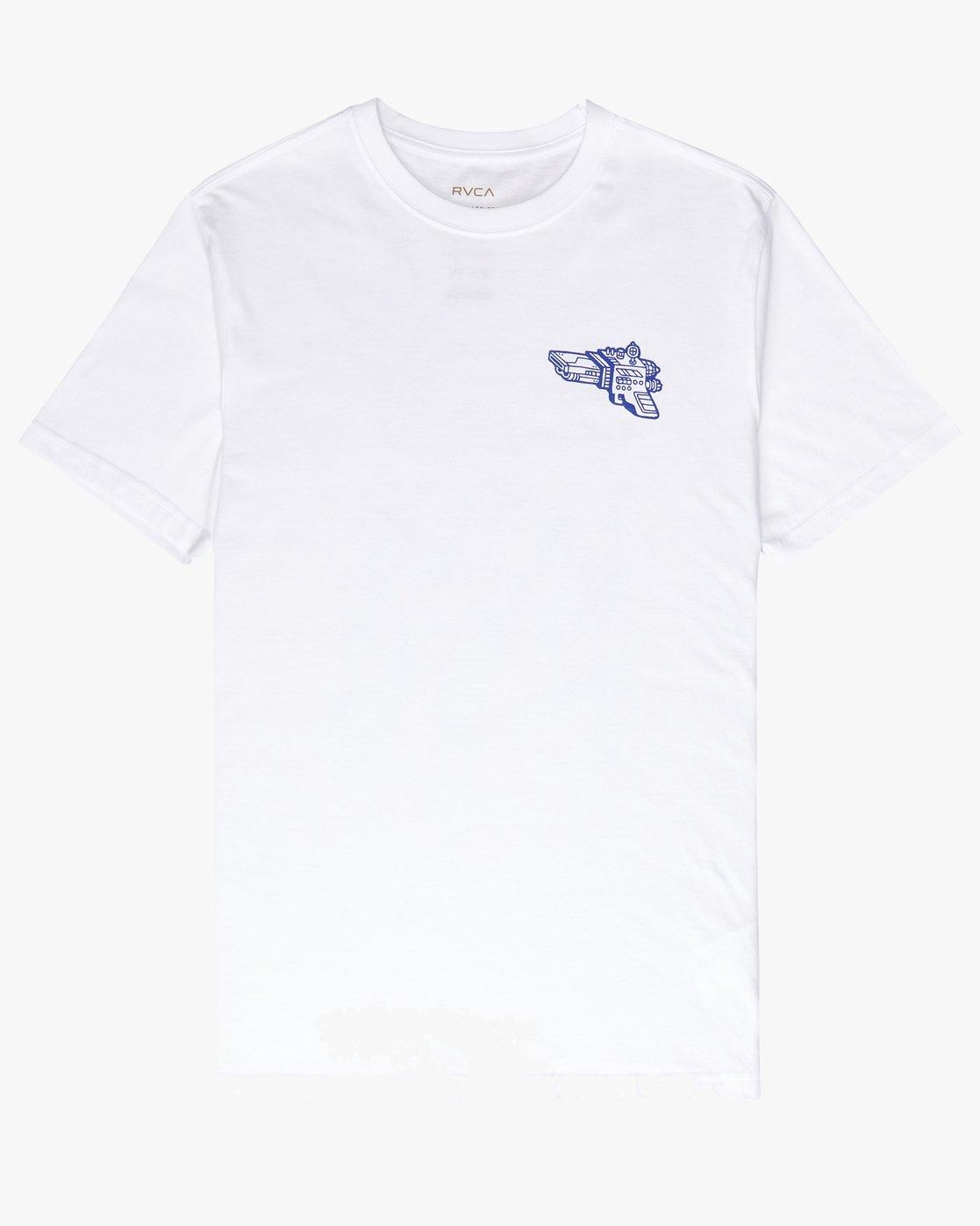 1 Space Lazer T-Shirt White P1SSRCRVS9 RVCA