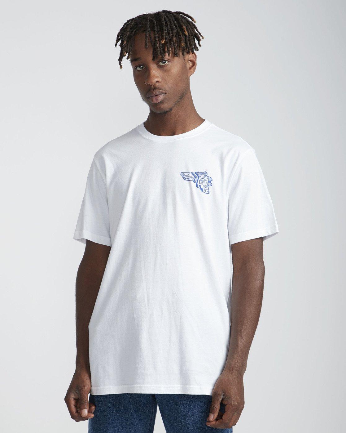 2 Space Lazer T-Shirt White P1SSRCRVS9 RVCA