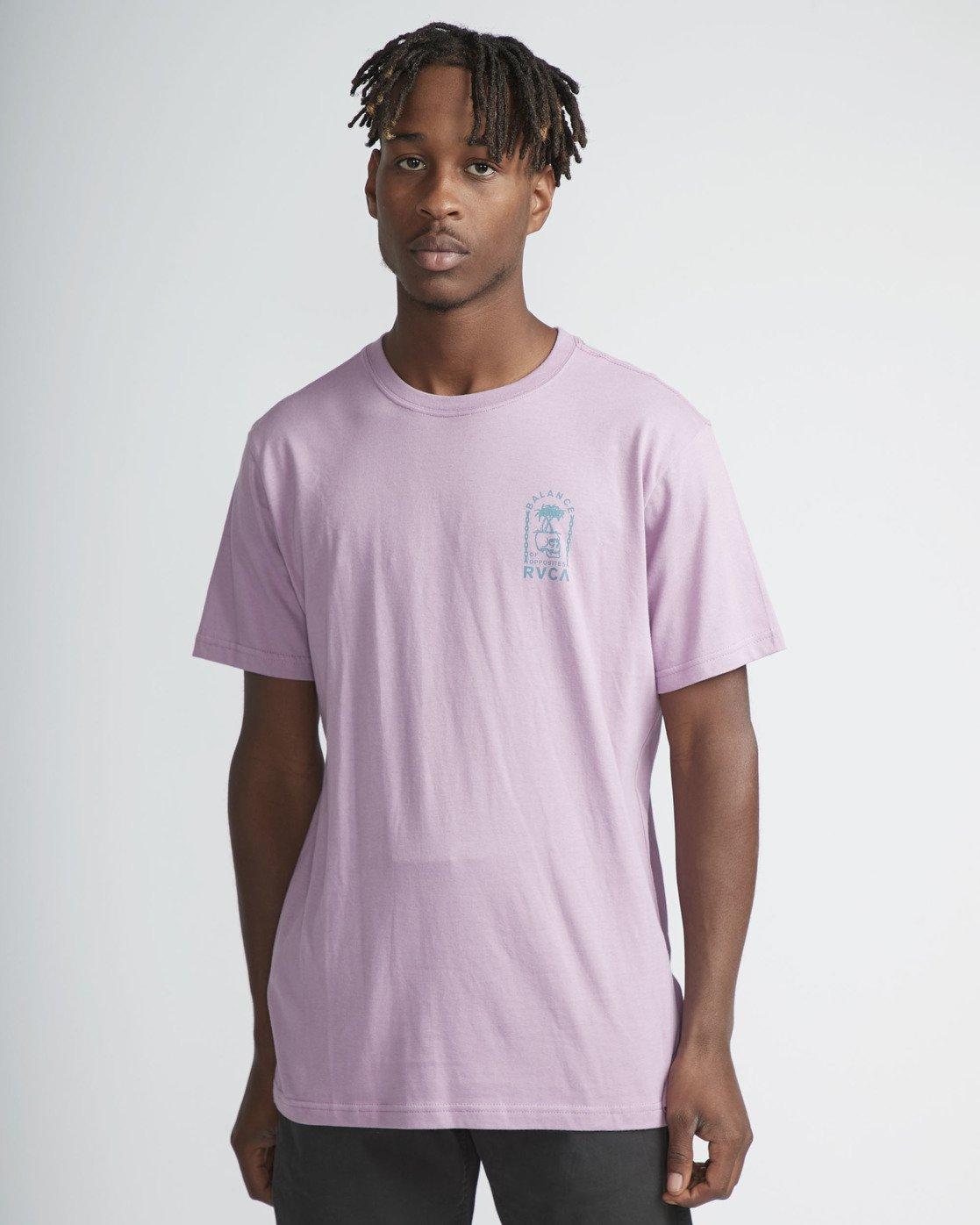 2 Bad Palms - T-Shirt for Men Purple P1SSRDRVS9 RVCA