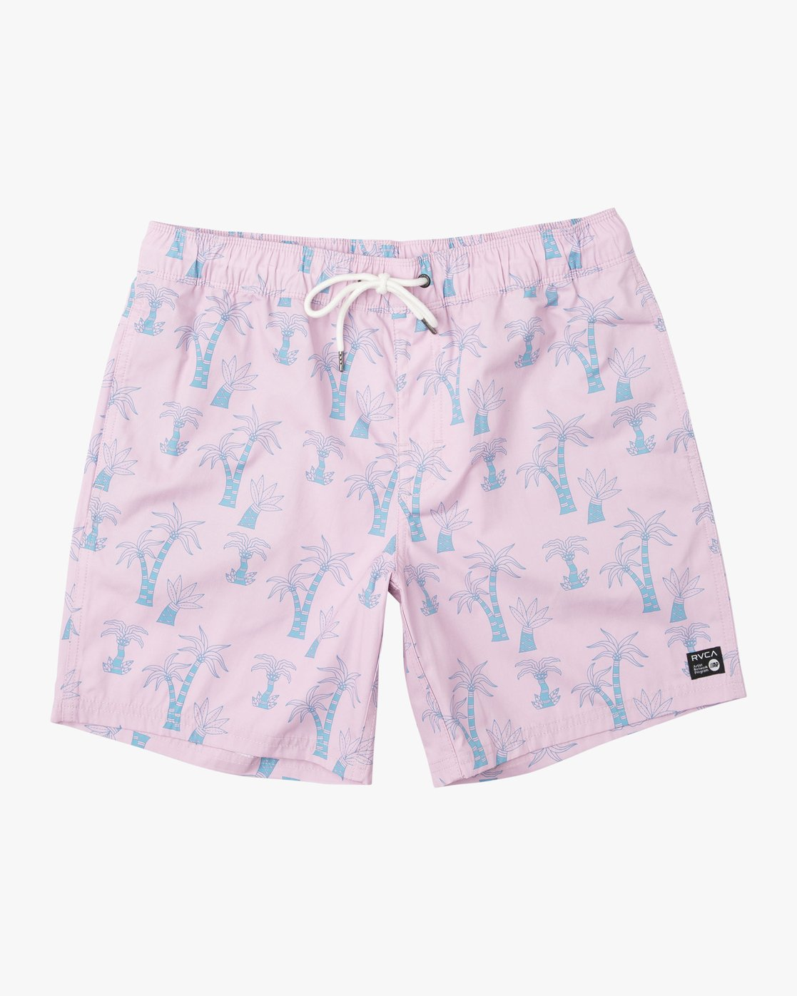 "0 Kristen Liu Wong Program Elastic Short - 17"" Boardshorts for Men Pink P1VORDRVS9 RVCA"