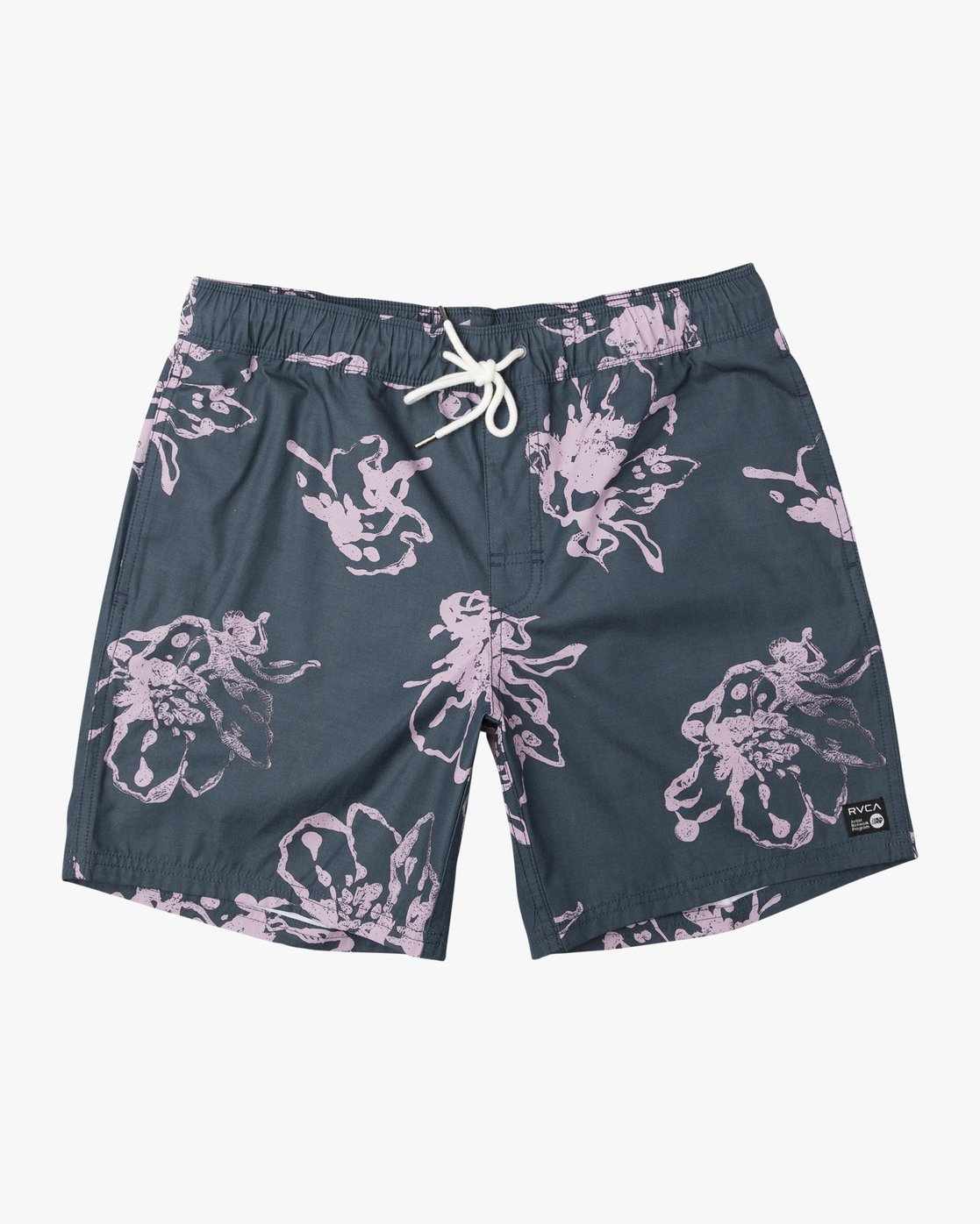 "0 Kristen Liu Wong Program Elastic Short - 17"" Boardshorts for Men Blue P1VORDRVS9 RVCA"