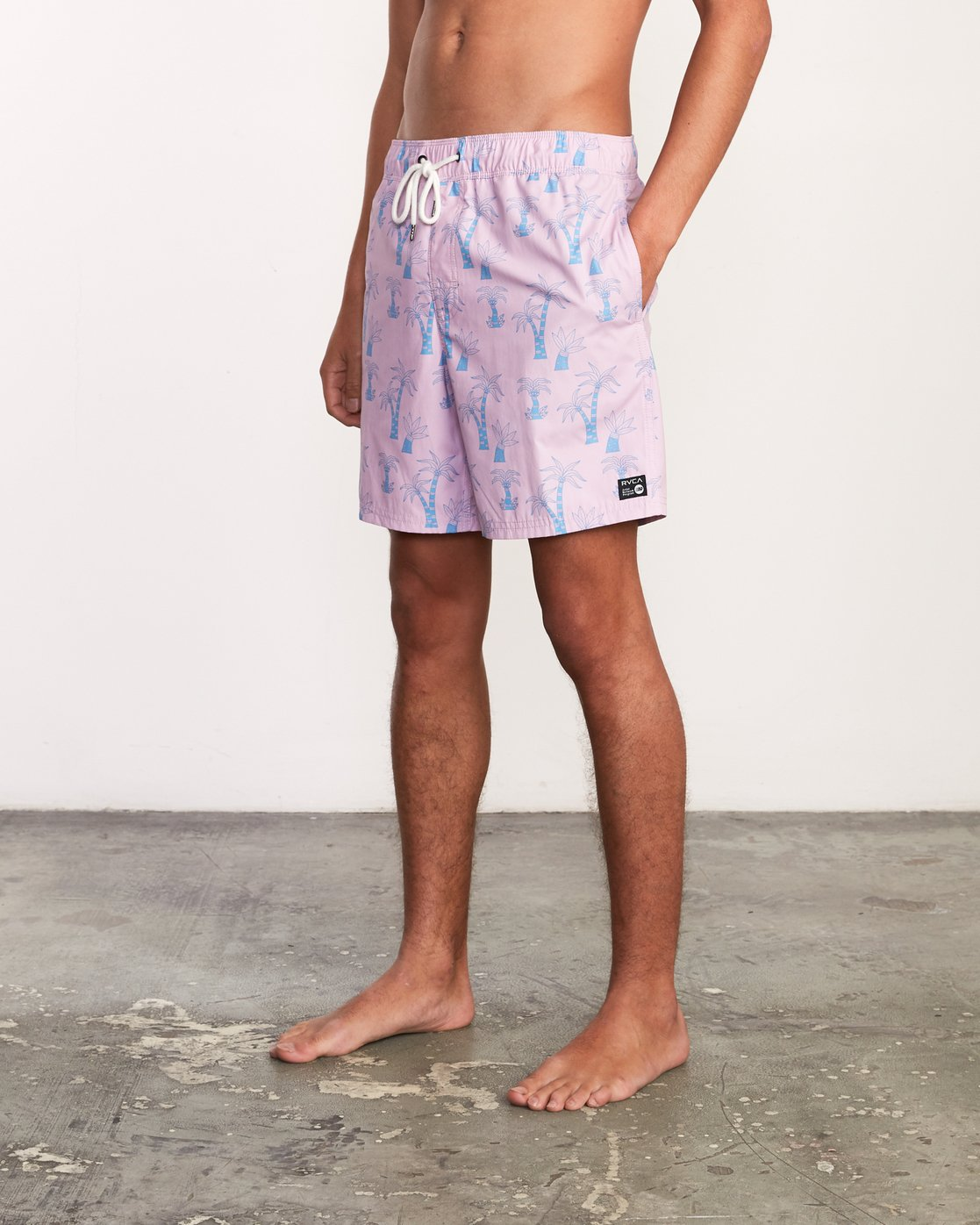 "3 Kristen Liu Wong Program Elastic Short - 17"" Boardshorts for Men Pink P1VORDRVS9 RVCA"